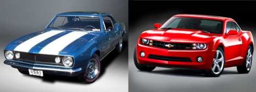 left: 1969 Camaro.  right: 2010 Camaro. Which do you think would far better in an accident?