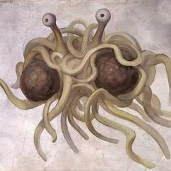 Flying Spaghetti Monster.
