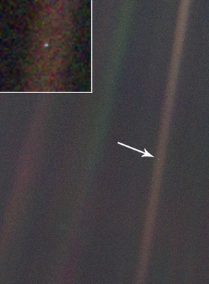 Earth as seen from 4 billion miles away