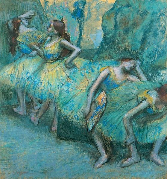 In The Wings, Edgar Degas,