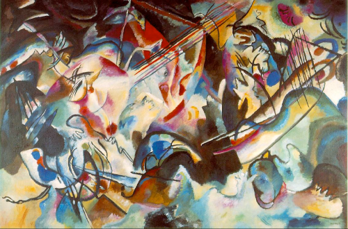 Wassily Kandinsky, Composition VI, 1913. (wikipaintings.org)