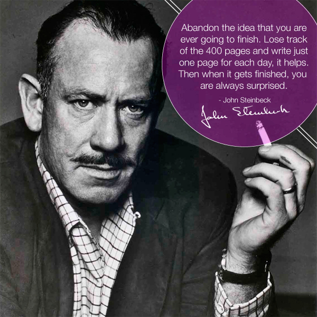 Did you know this is what Steinbeck looked like? I didn't.