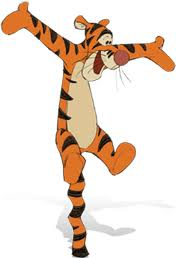 Being Tigger is what do what Tiggers do best.
