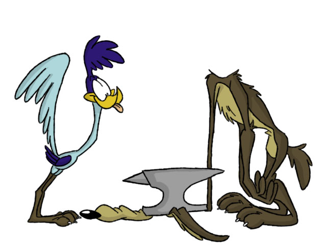 The Roadrunner & Wile. E Coyote, Looney Tunes, Warner Bros. Studios.