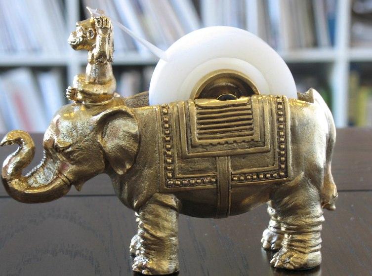 Brass_Elephant_Monkey_Tape_Dispenser