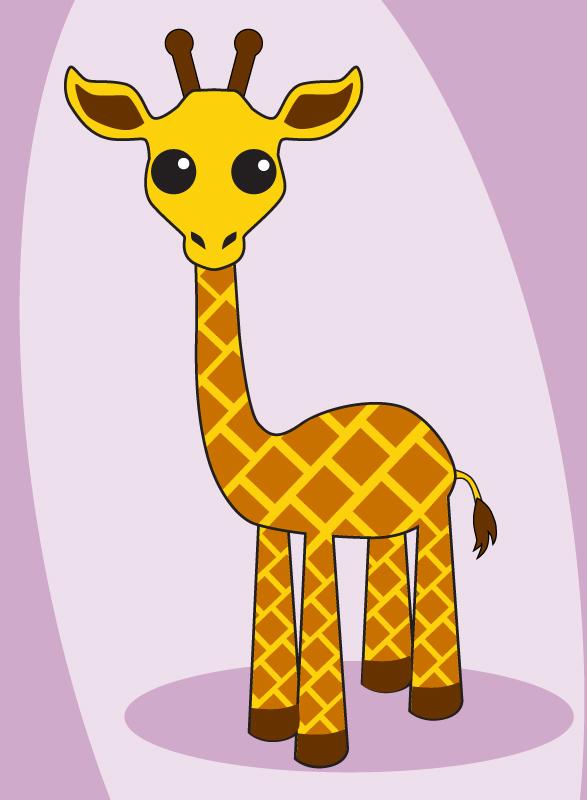 жираф картинки нарисованные для детей