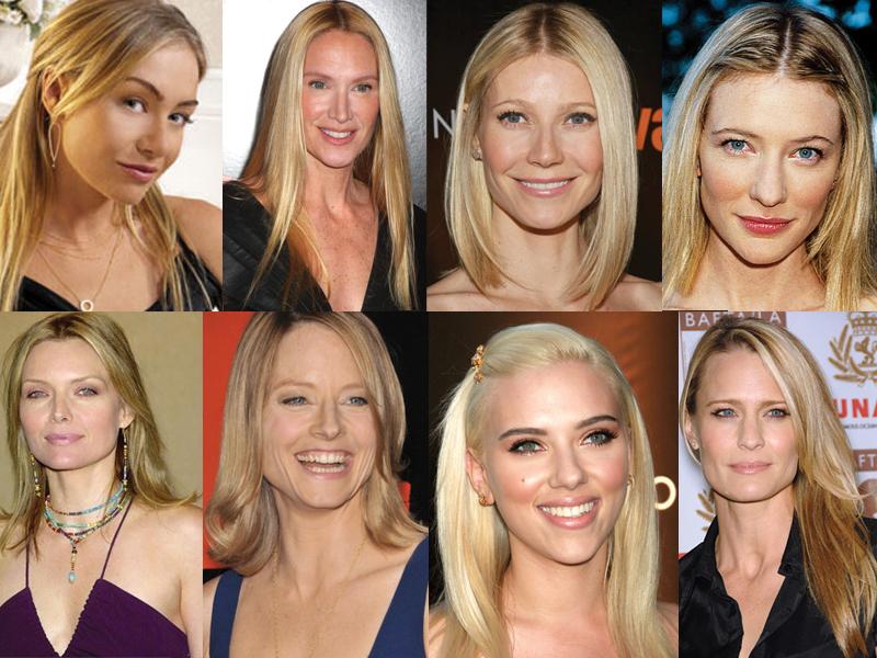 Portia De Rossi, Kelly Lynch, Gwyneth Paltrow, Cate Blanchett, Michelle Pfeiffer, Jodie Foster, Scarlet Johanson, Robin Wright.