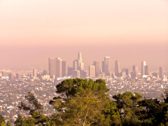Los Angeles before rain.