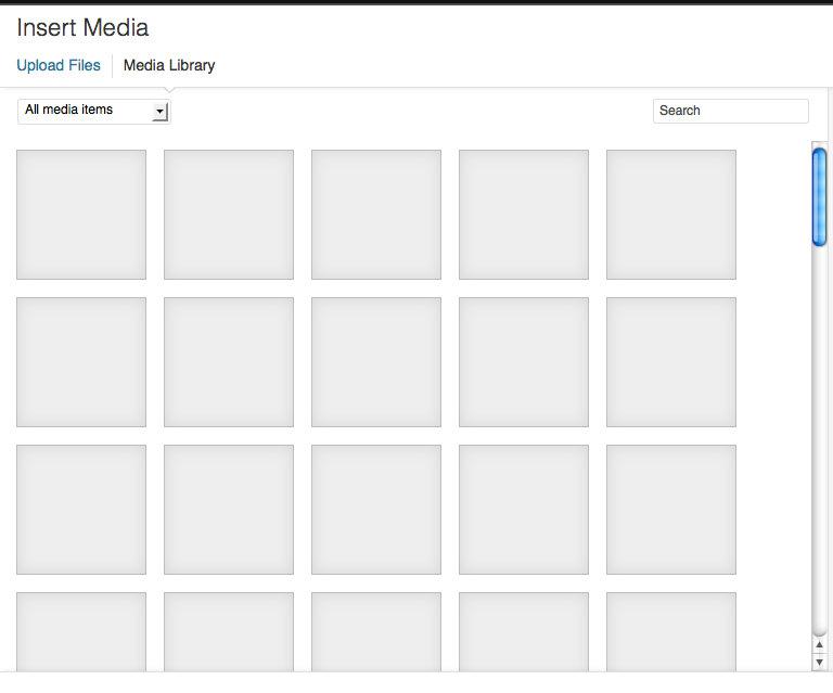 I only use gray squares for images. It's very modernist.
