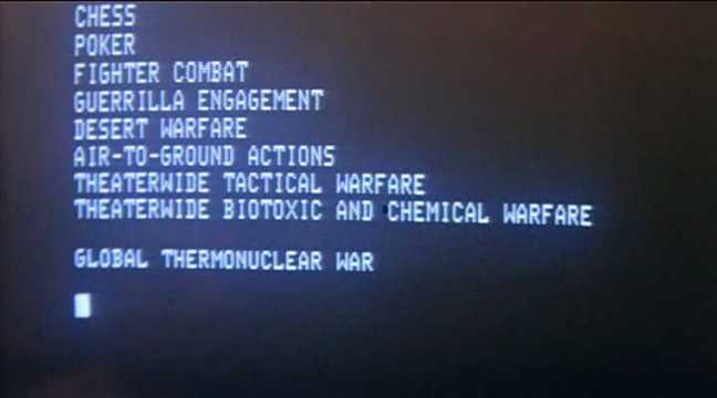 War Games, United Artists, 1983.