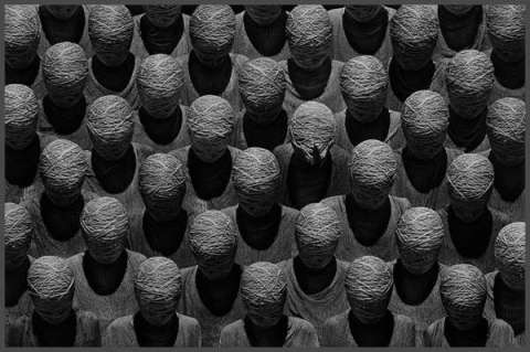 This picture gives me hives. Misha Gordin – Faceless Crowd