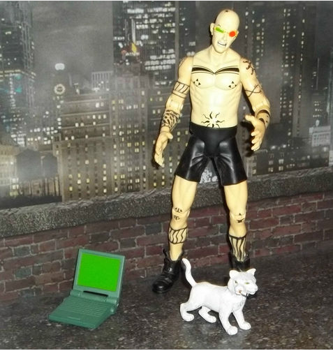 Spider Jerusalem action figure, Transmetroplitan by Warren Ellis and Darrick Roberston, Vertigo