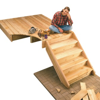 He's taking a well deserved break after walking up 5 whole steps! Image from woodwork343.blog.fc2.com.