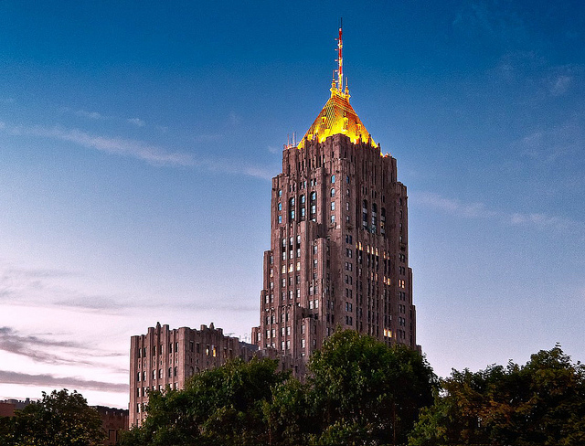 The Fisher Building, General Motors headquarters.