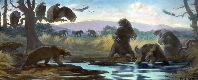 Fauna at the La Brea tar pits. Image from wikipedia.