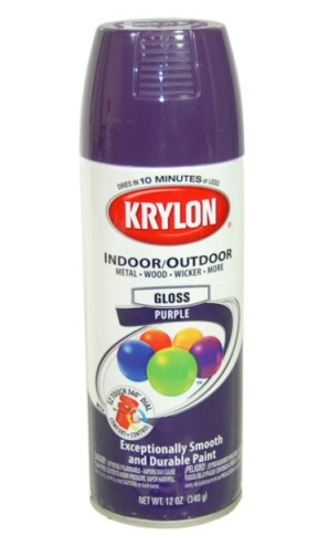 Honestly, Krylon spray paint kind of sucks. I recommend Rustoleum instead, but I didn't know that before I bought a bunch of Krylon.