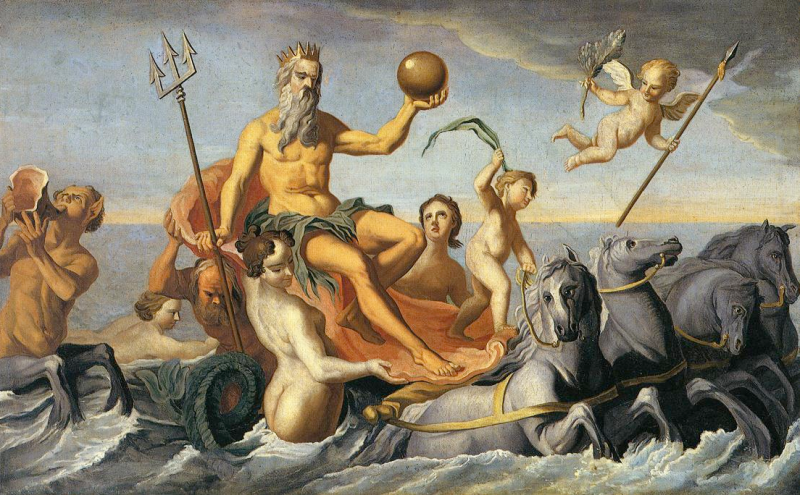 The Return of Neptune - John Singleton Copley, 1754 Image from wikipaintings