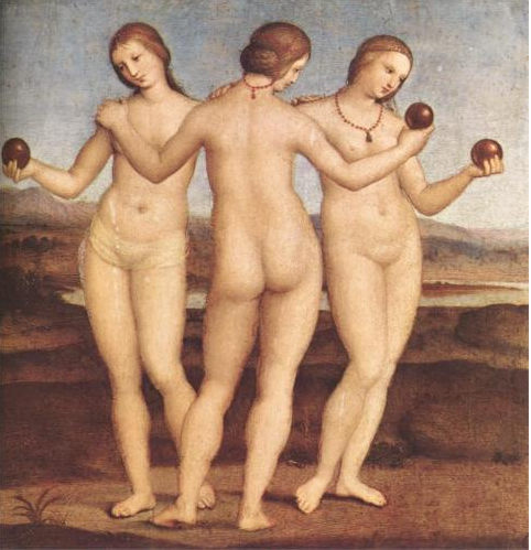 The Three Graces, Raphael, 1504 Image from wiki.paintings.