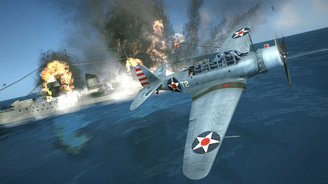 Like this only more real than a video game. Image from the Damage Inc. game Pacific Squadron WWII.
