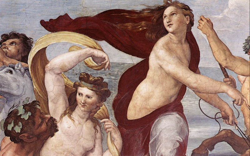 The Triumph of Galatea (detail), Raphael. Image from wikipaintings.org