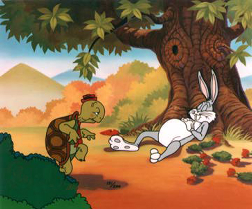 Bugs does look awfully comfortable. Bugs bunny, Looney Toons, Warner Brothers.