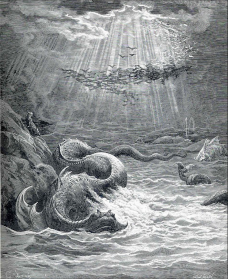 The Creation Of Fish And Birds, Dore. Image from wikipaintings