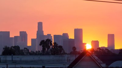 Sunrise over Los Angeles. Image from shutterstock.com