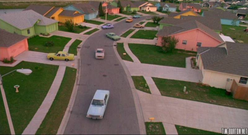 Suburbia as seen in Edward Scissorhands