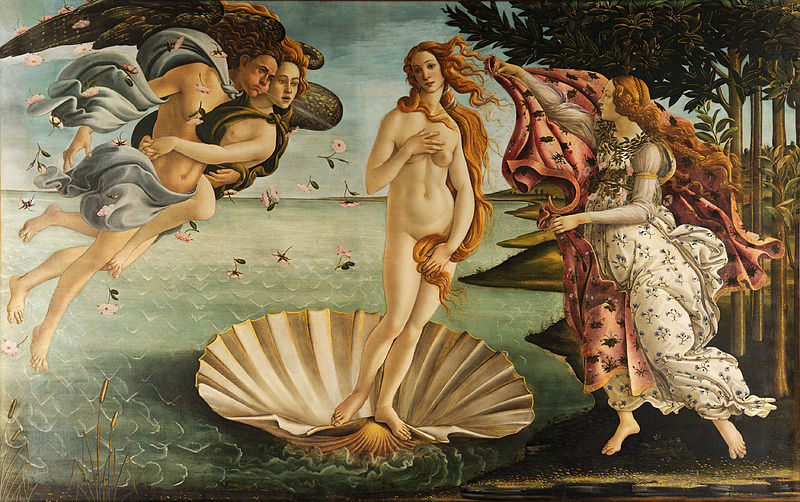 The Birth Of Venus, Botticelli. Image from wiki.