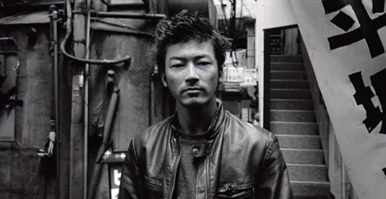 Tadanobu Asano in Electric Dragon 80000V. Image from cinemastrikesback.com