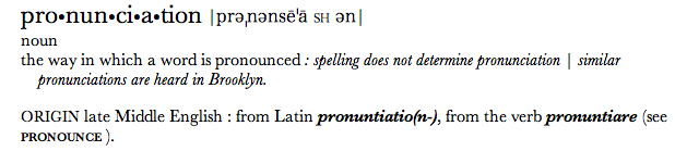 According to the diacritics, here, pronunciation is pronounced pre-nonce-a-shin-sex. Image Credit: my stupid computer.
