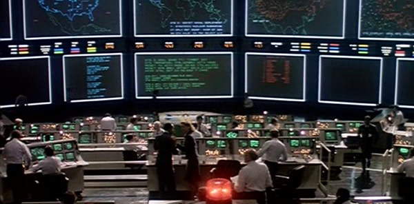 NORAD control room from the movie War Games. Image from appliedcynicism.com