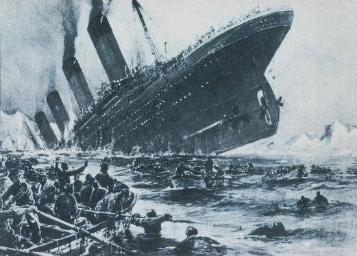 Pictured: The Titanic clearly NOT sinking. Image from titanicuniverse.com