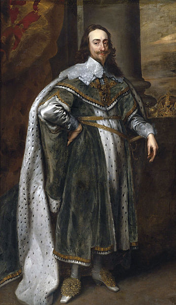 King Charles I. Nice shoes, dude. Image from wiki.