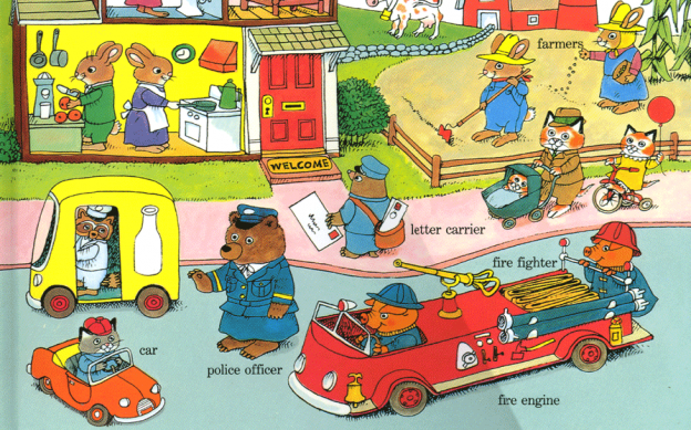 A shot of Busytown by Richard Scarry.