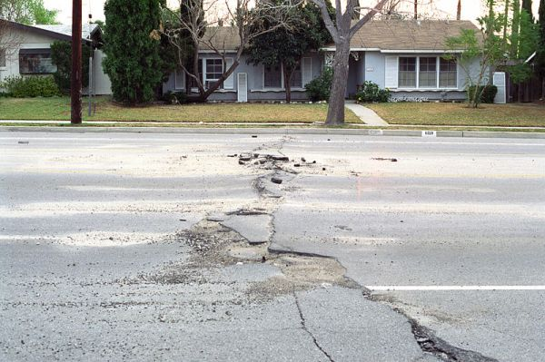 Street damage after the Northridge quake. Image from http://en.wikipedia.org/wiki/File:Street_Damage_After_Northridge_Earthquake.jpg