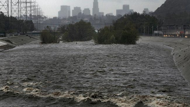 Flooded LA river.