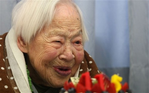 Misao Okawa, world's oldest person, 116 years, bitches.