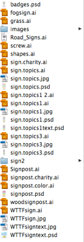 Folder of FAIL.