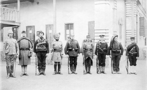 Troops of the Eight-nation alliance, 1900. (wikipedia)
