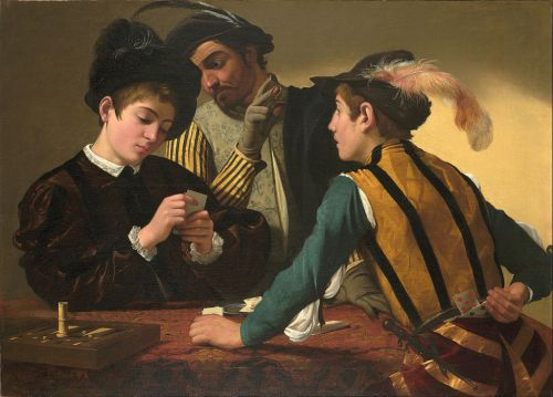 The Cardsharps by Caravaggio, c. 1594 (wikipedia.org)