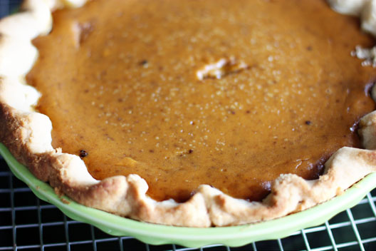 This is what my pumpkin pies look like: not super pretty, but damn delicious and homemade. (unsophisticook.com)