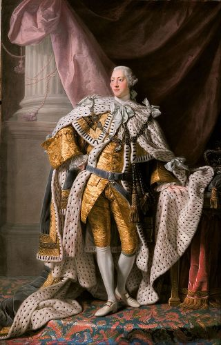 King George III by Allan Ramsay, 1762 What a dick.