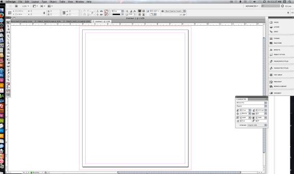 I heart InDesign. (My desktop)