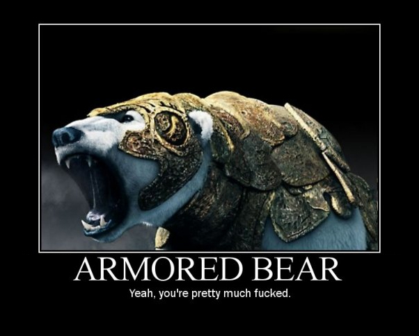 Sadly, not this kind of bear.